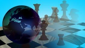 Σκάκι εμπορικής στρατηγικής παγκόσμιων επιχειρήσεων ελεύθερη απεικόνιση δικαιώματος
