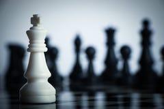 Σκάκι ενάντια Στοκ Φωτογραφίες