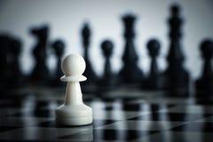 Σκάκι ενάντια Στοκ Φωτογραφία