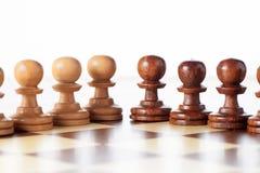 Σκάκι ενέχυρων Στοκ φωτογραφία με δικαίωμα ελεύθερης χρήσης