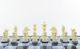Σκάκι λευκών Στοκ Εικόνα