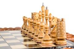 Σκάκι η μαύρη μεταφορά συντρόφων κυριώτερης απώλειας παιχνιδιών τελών σκακιού επιχειρησιακού ελέγχου χαρτονιών μονοχρωματική πέρα Στοκ Φωτογραφίες