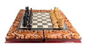 Σκάκι η μαύρη μεταφορά συντρόφων κυριώτερης απώλειας παιχνιδιών τελών σκακιού επιχειρησιακού ελέγχου χαρτονιών μονοχρωματική πέρα Στοκ Φωτογραφία