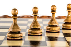Σκάκι η μαύρη μεταφορά συντρόφων κυριώτερης απώλειας παιχνιδιών τελών σκακιού επιχειρησιακού ελέγχου χαρτονιών μονοχρωματική πέρα Στοκ Εικόνες