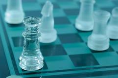 Σκάκι κρυστάλλου Στοκ Φωτογραφίες