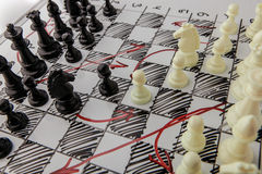Σκάκι Λευκός πίνακας με τους αριθμούς σκακιού για το Στοκ Εικόνες