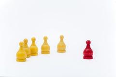 Σκάκι μάχης στο άσπρο υπόβαθρο Στοκ Φωτογραφίες
