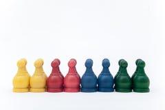 Σκάκι μάχης στο άσπρο υπόβαθρο Στοκ Εικόνα