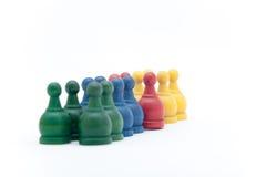 Σκάκι μάχης στο άσπρο υπόβαθρο Στοκ Εικόνες