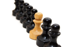 σκάκι μάχης Στοκ φωτογραφίες με δικαίωμα ελεύθερης χρήσης