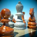 σκάκι μάχης Στοκ εικόνα με δικαίωμα ελεύθερης χρήσης