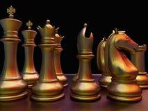 σκάκι μάχης Στοκ φωτογραφία με δικαίωμα ελεύθερης χρήσης