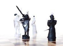 σκάκι μάχης Στοκ εικόνες με δικαίωμα ελεύθερης χρήσης