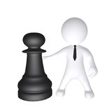 Σκάκι παιχνιδιού ατόμων διανυσματική απεικόνιση
