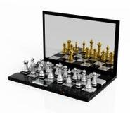 Σκάκι παιχνιδιού σε απευθείας σύνδεση Στοκ Φωτογραφίες