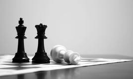 σκάκι που τελειώνει το παιχνίδι στοκ φωτογραφία με δικαίωμα ελεύθερης χρήσης