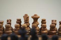 Σκάκι πυροβοληθείς του σκακιού με το bokeh Στοκ εικόνες με δικαίωμα ελεύθερης χρήσης