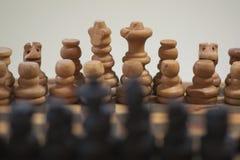 Σκάκι πυροβοληθείς του σκακιού με το bokeh Στοκ Εικόνα