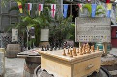 Σκάκι στην αγορά στοκ εικόνες