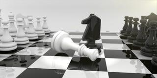 Σκάκι στον πίνακα σκακιού απεικόνιση αποθεμάτων