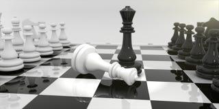 Σκάκι στον πίνακα σκακιού ελεύθερη απεικόνιση δικαιώματος