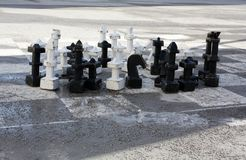 Σκάκι στο τετράγωνο στο Σάλτζμπουργκ στοκ φωτογραφία με δικαίωμα ελεύθερης χρήσης