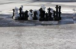 Σκάκι στο τετράγωνο στο Σάλτζμπουργκ στοκ εικόνα με δικαίωμα ελεύθερης χρήσης