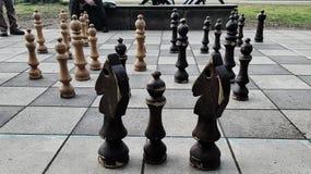 Σκάκι υπαίθρια Στοκ εικόνες με δικαίωμα ελεύθερης χρήσης