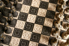σκάκι χαρτονιών Στοκ Εικόνες