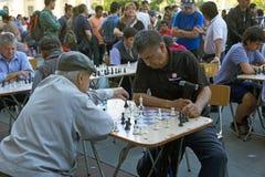 Σκάκι Plaza de Armas, Σαντιάγο, Χιλή Στοκ Εικόνες
