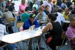 Σκάκι Plaza de Armas, Σαντιάγο, Χιλή Στοκ Φωτογραφία
