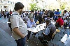 Σκάκι Plaza de Armas, Σαντιάγο, Χιλή Στοκ Εικόνα