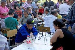 Σκάκι Plaza de Armas, Σαντιάγο, Χιλή Στοκ Φωτογραφίες