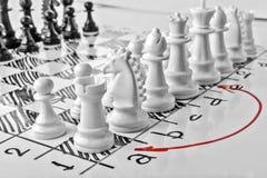 Σκάκι, queenside ή πολύ Στοκ εικόνα με δικαίωμα ελεύθερης χρήσης