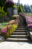 σκάλα κήπων στοκ εικόνες
