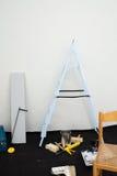 Σκάλα και εξοπλισμός στοκ φωτογραφία