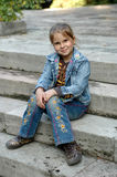 σκάλα κοριτσιών Στοκ εικόνα με δικαίωμα ελεύθερης χρήσης