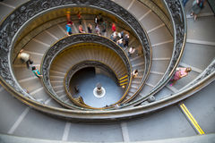 Σκάλα μουσείων Βατικάνου Στοκ Φωτογραφία