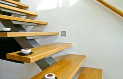 σκάλα ξύλινη Στοκ φωτογραφίες με δικαίωμα ελεύθερης χρήσης