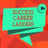 Σκάλα σταδιοδρομίας επιτυχίας κειμένων γραψίματος λέξης Επιχειρησιακή έννοια για τη μετακίνηση επάνω της σταδιοδρομίας στην εταιρ απεικόνιση αποθεμάτων