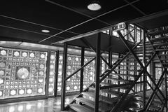 Σκάλα στο ` Institut du Monde Arabe ` Στοκ φωτογραφίες με δικαίωμα ελεύθερης χρήσης