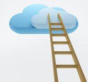 σκάλα σύννεφων Στοκ φωτογραφία με δικαίωμα ελεύθερης χρήσης