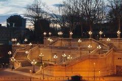 Σκάλα Pinchio ` s στα ξημερώματα Μπολόνια, Αιμιλία-Ρωμανία, Ιταλία Στοκ φωτογραφίες με δικαίωμα ελεύθερης χρήσης