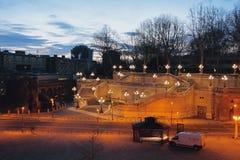 Σκάλα Pinchio ` s τετραγωνικό ΧΧ Σεπτέμβριο της νύχτας Μπολόνια, Αιμιλία-Ρωμανία, Ιταλία Στοκ φωτογραφία με δικαίωμα ελεύθερης χρήσης