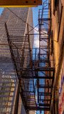 Σκάλες διάσωσης στο Σικάγο - το ΣΙΚΑΓΟ, ΗΠΑ - 12 ΙΟΥΝΊΟΥ 2019 στοκ εικόνες