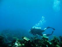 σκάφανδρο πλήκτρων κατάδ&upsilon στοκ εικόνα