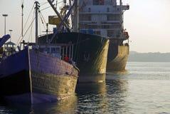 σκάφη αγκυροβολίων Στοκ φωτογραφίες με δικαίωμα ελεύθερης χρήσης