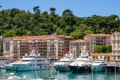 Σκάφη Γαλλία λιμένων μαρινών της Νίκαιας στοκ φωτογραφία