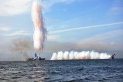 σκάφη θάλασσας πάλης Στοκ Φωτογραφίες