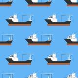 Σκάφη και βυτιοφόρα φορτίου που στέλνουν το μαζικό άνευ ραφής διάνυσμα υποβάθρου βυτιοφόρων βαρκών φορτίου τραίνων μεταφορέων σχε διανυσματική απεικόνιση